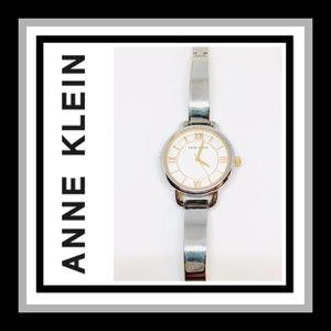 Anne Klein Silver Dial Metal Band Watch